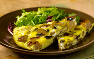 frittata-with-sausages-onion-and-mushrooms