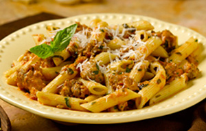 penne-with-sausage-rose-sauce